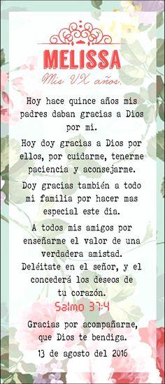 Oración [VX] [15 años] [misa] [flores] [rosa coral]☆.☆