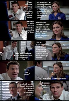 Booth and Brennan discussing love and marriage lol!