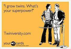 Twin mom humor