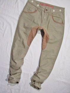 mens jeans Zu  Uomo  with leather    W29 L32 #ZU #SlimSkinny
