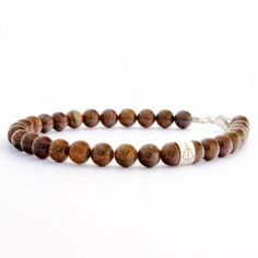 Men's Bracelet Bronze with sterling silver by DCIswe on Etsy, $159.00