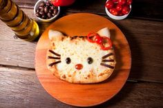 cute little hello kitty pizza