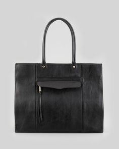 MAB Leather Tote Bag, Black by Rebecca Minkoff at Neiman Marcus.