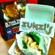Zunzis Takeout & Catering to be featured on Adam Richman's new show America's Best Sandwich next month on the Travel Channel. Can't believe only 7 years ago we started designing the look for this now very well known Savannah treasure. Shit yeah!