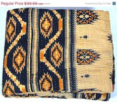 Hey, I found this really awesome Etsy listing at https://www.etsy.com/listing/203740590/vintage-throw-kantha-quilt-n-ethnic