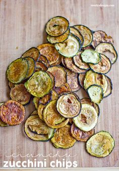 need a healthy snack- these crunchy zucchini chips are delicious and easy to make!