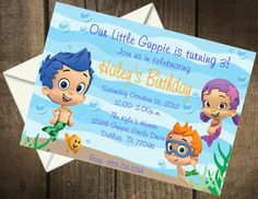Bubble Guppies Birthday Party Printable Invitation on Etsy, $5.00