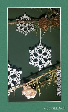 Tatting pattern perfect to tat this lacy snowflake  This is my original design.  This lovely motive requires 2 shuttles to make it. I use