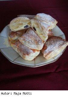 Pudingovo-tvarohové polštářky Czech Recipes, Churros, Sweet Recipes, Rum, French Toast, Food And Drink, Treats, Baking, Breakfast