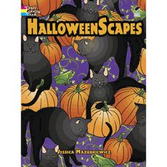 HalloweenScapes Dover Holiday Coloring Book By Jessica Mazurkiewicz