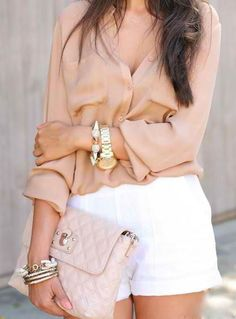 Blush & ivory make a feminine combo