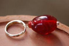 Ruby Red bead Pet Charm by mescouture on Etsy, $4.00