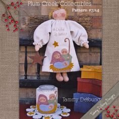 Nativity Angel Doll and Candle Wrapper Applique Pattern #324