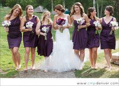 My wedding! Beaver Creek Wedding: Erik and Nadia. Loved having purple flowers while the girls had more white