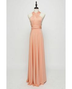 Long Infinity Bridesmaid dress in Salmon Pink
