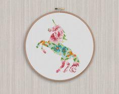 Space Unicorn Silhouette Cross Stitch Pattern by CraftTimeinArkham