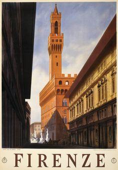 Loveee vintage travel posters! ...Florence