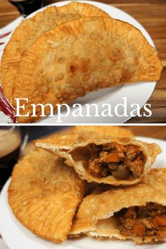 Empanadas are stuffed pastries that are baked or fried. In this recipe ground beef is replaced with ground turkey to make a (mostly) traditional Cuban picadillo Fried Empanadas Recipe, Chicken Empanadas, Chicken Chorizo, Turkey Recipes, Beef Recipes, Mexican Food Recipes, Spanish Recipes, Mexican Dishes, Yummy Recipes