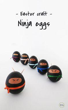 Make ninja eggs as a fun Easter decor.