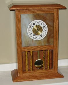 The Dale Maley Family Web Site - Glass Clock with Columns