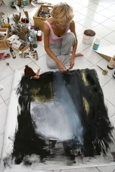 Nadine Bourgne at work