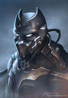 Batman redesigned by Ari Yanto