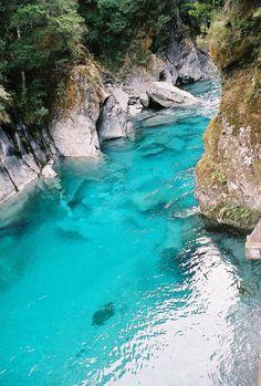 Blue Pools, Haast Pass by benyeuda