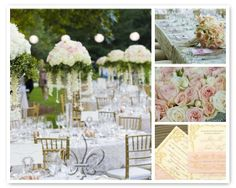 Wedding, Flowers, Reception, Pink, White, Green, Gold, Inspiration - Project Wedding