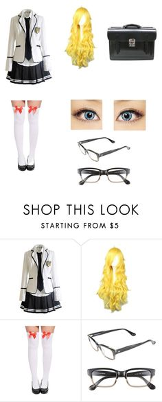 """""""Cute Anime School Girl Look (1)"""" by albaoreo on Polyvore featuring Corinne McCormack"""