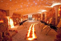 grota solna nowoczesna SOLANA modern salt cave SOLANA Salzgrotte Modern www. Salt Room Therapy, Himalayan Salt Cave, Cool Places To Visit, Places To Travel, Voyage Canada, Medical Office Design, Spa Interior, Canadian Travel, Around The World In 80 Days
