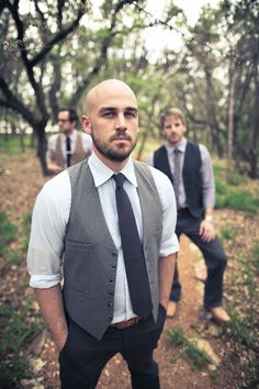The groom and his men....almost like the vest idea..love this shot