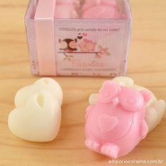 Lembrancinha maternidade. Lembrancinha nascimento. Lembrancinha corujinha. Sabonete artesanal. Handmade Soap. Empório Coralina. http://www.emporiocoralina.com.br