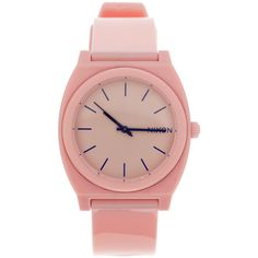 Nixon The Time Teller P Watch (£28) ❤ liked on Polyvore featuring jewelry, watches, accessories, fillers, pink, nixon, buckle watches, buckle jewelry, pink jewelry and nixon jewelry
