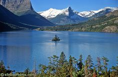 Glacier National Park, Montana. This is a view from Going-to-the-Sun Road in the park.