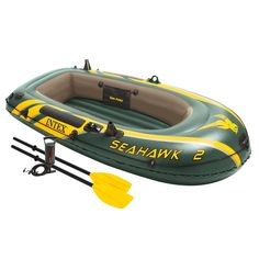 Intex Inflatable Boats 2 Person Set with Paddles and Pump for Camping Excursion  Description Intex Inflatable Boats  Get ready for your