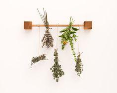 Herb Drying Rack Wooden Kitchen Rack Magic Wooden by lessandmore Herb Drying Racks, Herb Rack, Drying Herbs, Pot Rack, Kitchen Herbs, Kitchen Rack, Kitchen Utensils, Kitchen Goods, Studio Kitchen