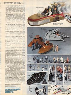 Star Wars Action Figures from the J. Star Wars Toys, Star Wars Art, Gi Joe, Toys In The Attic, Toy Catalogs, Old School Toys, Star Wars Images, Childhood Toys, Childhood Memories