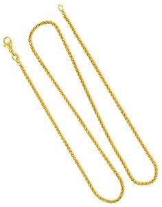 Foto 4, Zopf-Goldkette Zopfkette 46cm Länge in 18Karat Gelbgold, Z0003