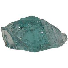 Pre-Owned Azure Blue Slag Glass ($175) ❤ liked on Polyvore featuring home, home decor, aqua, decorative accessories, glass home decor, aqua home decor, blue home decor and blue home accessories