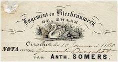 Oirschot Een briefhoofd van Logement en Bierbrouwerij de Zwaan van Anth. Somers, 10-01-1880