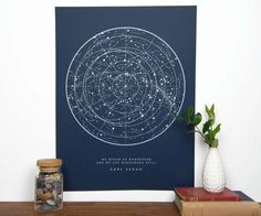 Sagan Star Chart - Navy
