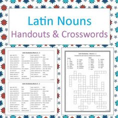 26 best great generals of history images on pinterest romans latin nouns handouts and crosswords no prep bw m4hsunfo