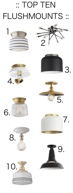 Flushmount lights from schoolhouse electric
