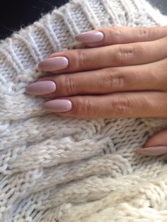 Getting used to this new almond shape! #loveit! The nail polish is OPI and the color is My Very First Knockwurst