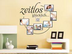 Fotorahmen Wandtattoo Uhr Zeitlos glücklich für besonders dekorative Momente in den eigenen vier Wänden...
