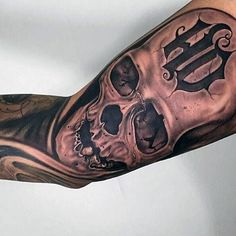 90 Harley Davidson Tattoos For Men – Manly Motorcycle Designs Awesome Hd Skull Harley Davidson Tattoo Sleeve For Guys Biker themed Tattoo Inspiratitions. Old school vintage styled biker tattoos Hd Tattoos, Skull Tattoos, Girl Tattoos, Mens Tattoos, Thigh Tattoos, Tattoo Harley, Harley Davidson Tattoos, Wrist Tattoos For Guys, Sleeve Tattoos For Women
