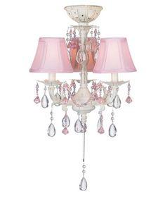 Pink chandelier ceiling fan and light kit fandelier perfect for pretty in pink pull chain ceiling fan light kit aloadofball Choice Image