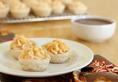Snickerdoodle Cookie Cups - a pumpkin dessert perfect for your gluten free Thanksgiving menu! - FaveGlutenFreeRecipes.com