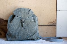 Vintage Swiss Military Haversack Bread Bag // iPad Bag // Messenger Bag // Satchel // Shoulder Bag. $42.00, via Etsy.