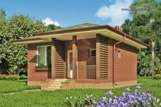 проект маленького одноэтажного дома с 1 спальней